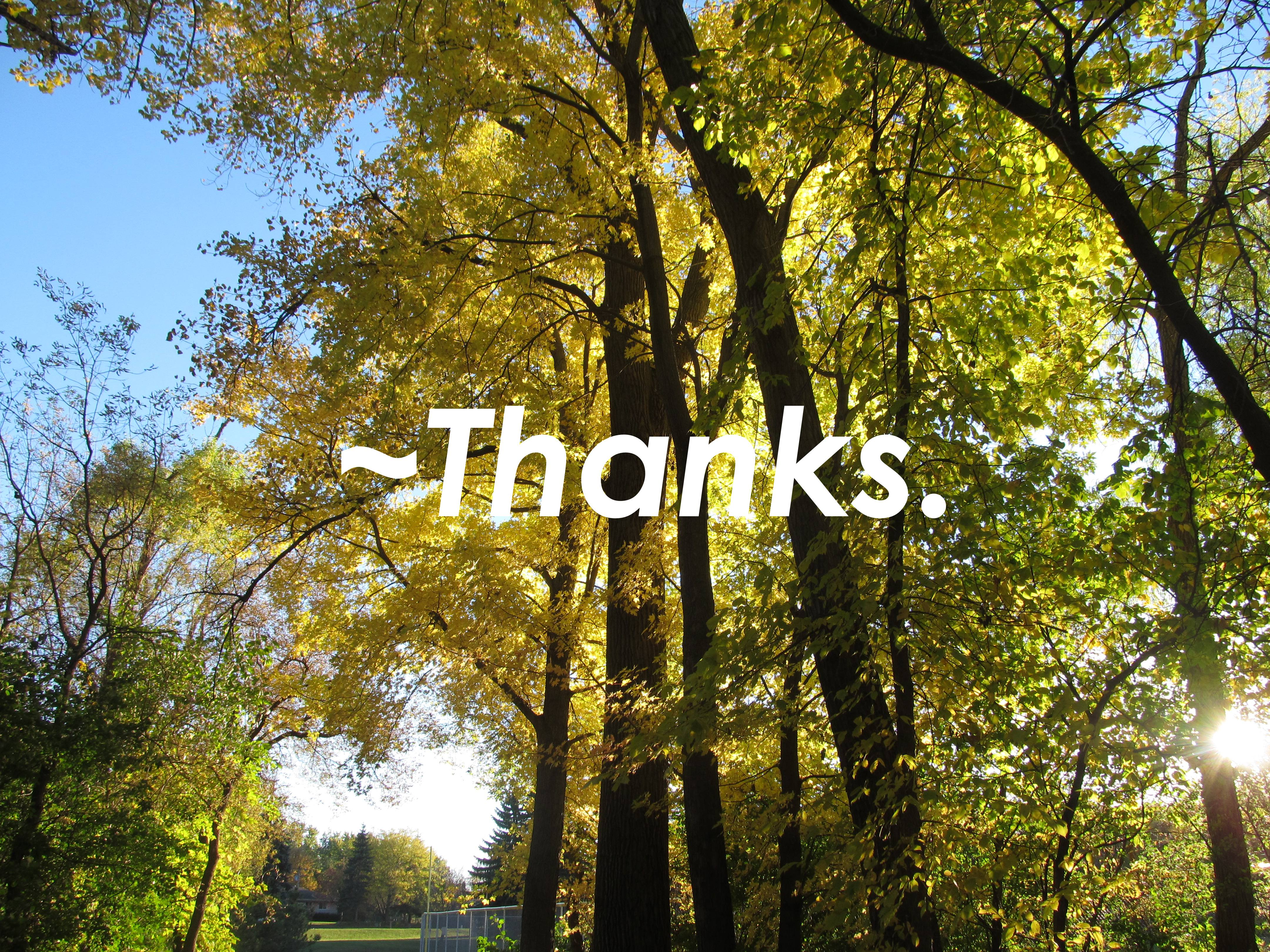TAE Presents: ~Thanks.